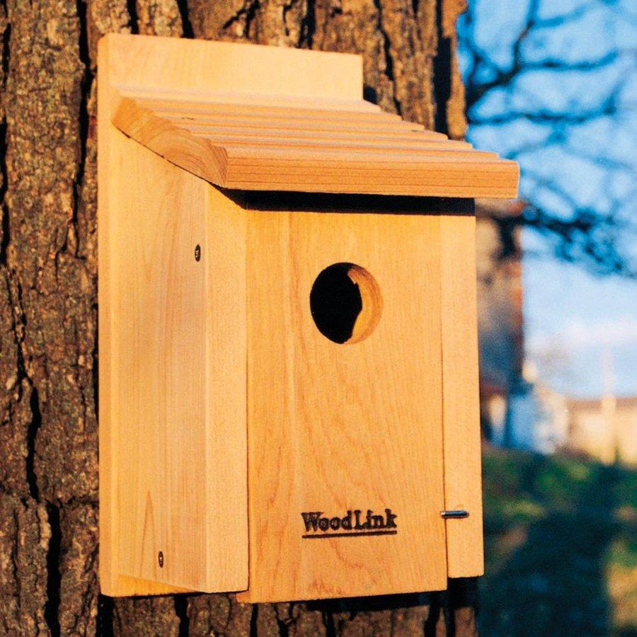 WoodLink 7.25-in W x 12-in H x 6.125-in D Unfinished Cedar Bird House