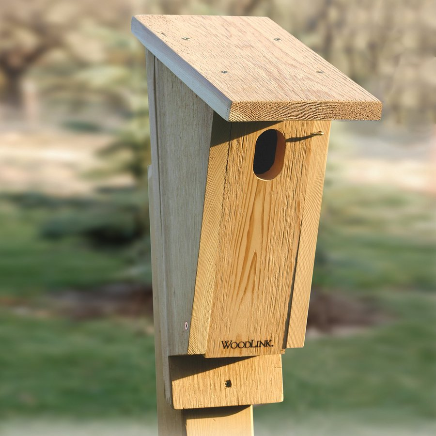 WoodLink 7-in W x 17.75-in H x 11.25-in D Unfinished Cedar Bird House