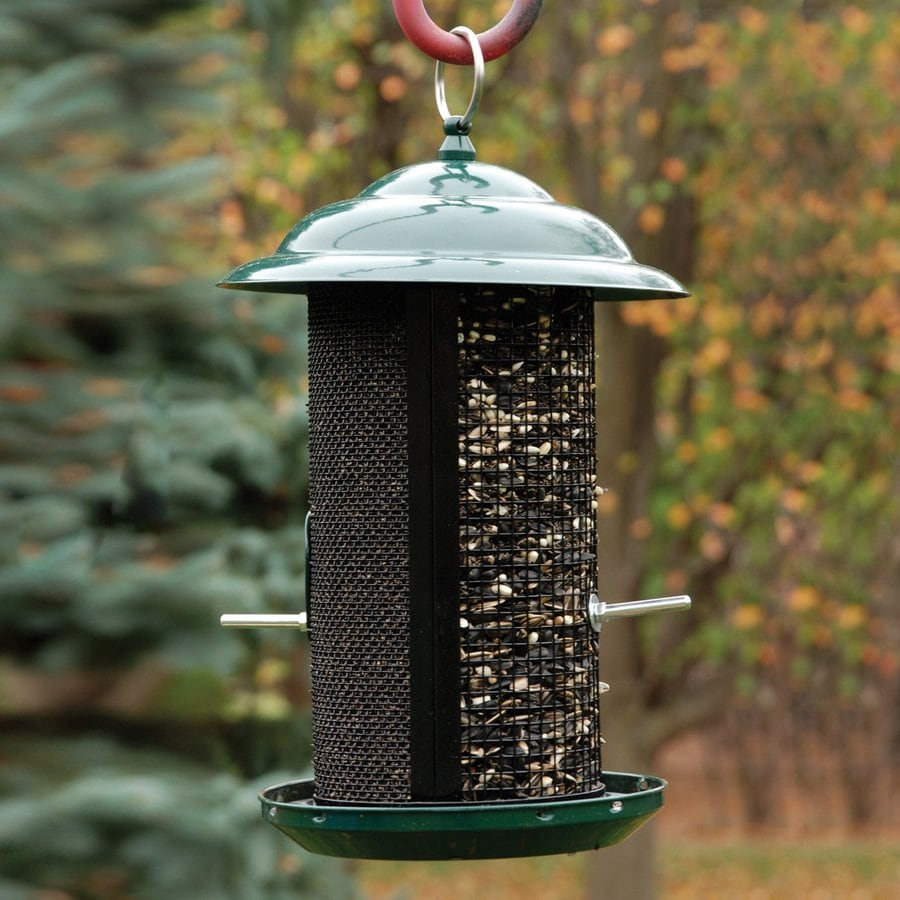 WoodLink Combination Nyjer and Mixed Seed Metal Tube Bird Feeder