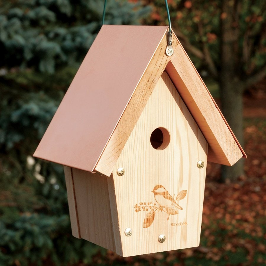 WoodLink 7.5-in W x 11-in H x 6.75-in D Unfinished Cedar Bird House