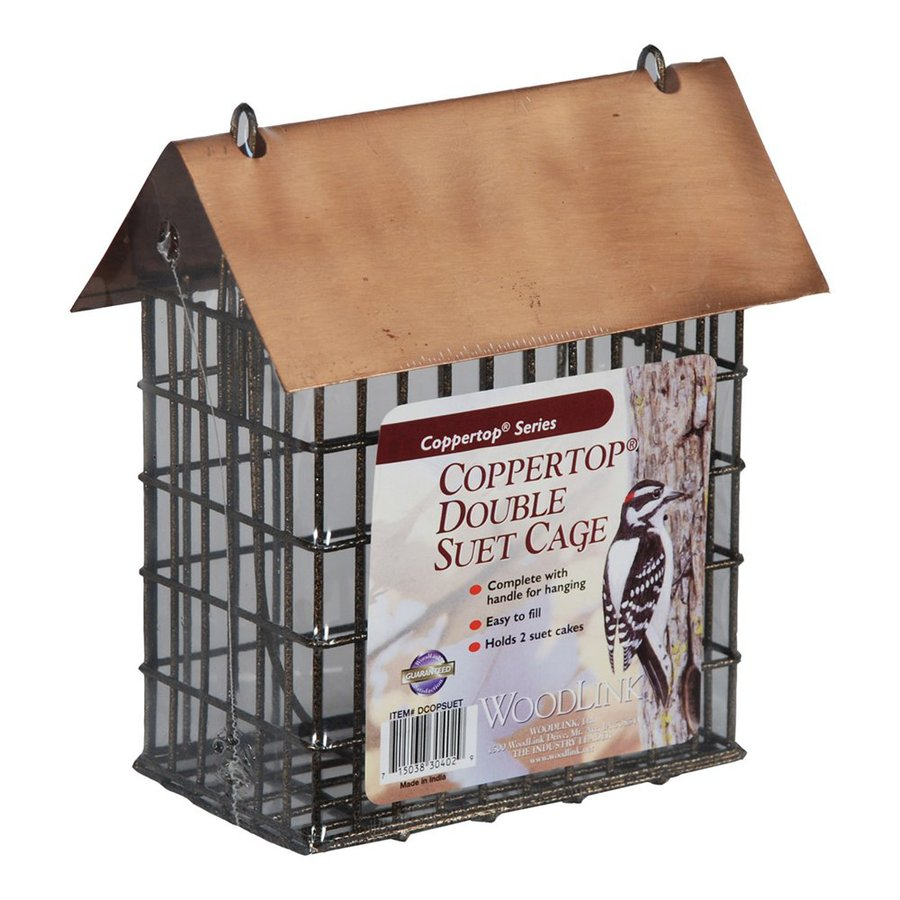 WoodLink Coppertop Two-Cake Copper Suet Feeder