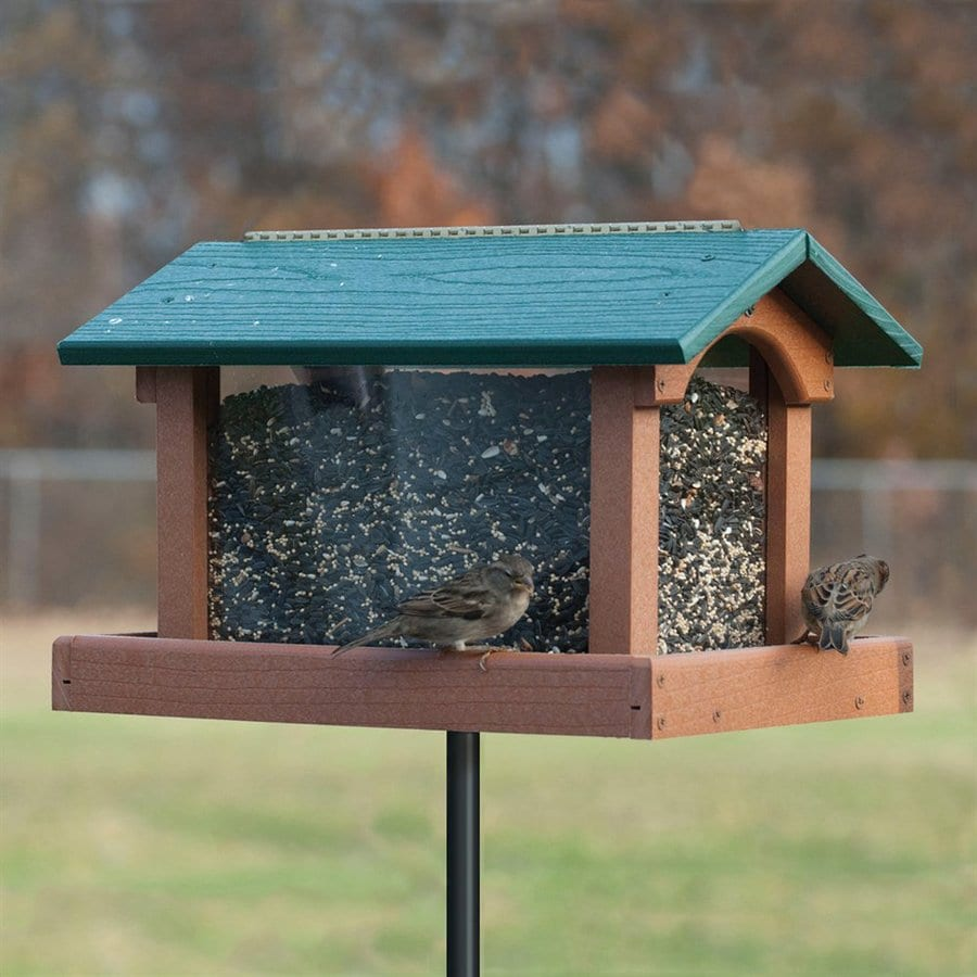 WoodLink Going Green Recycled Plastic Hopper Bird Feeder