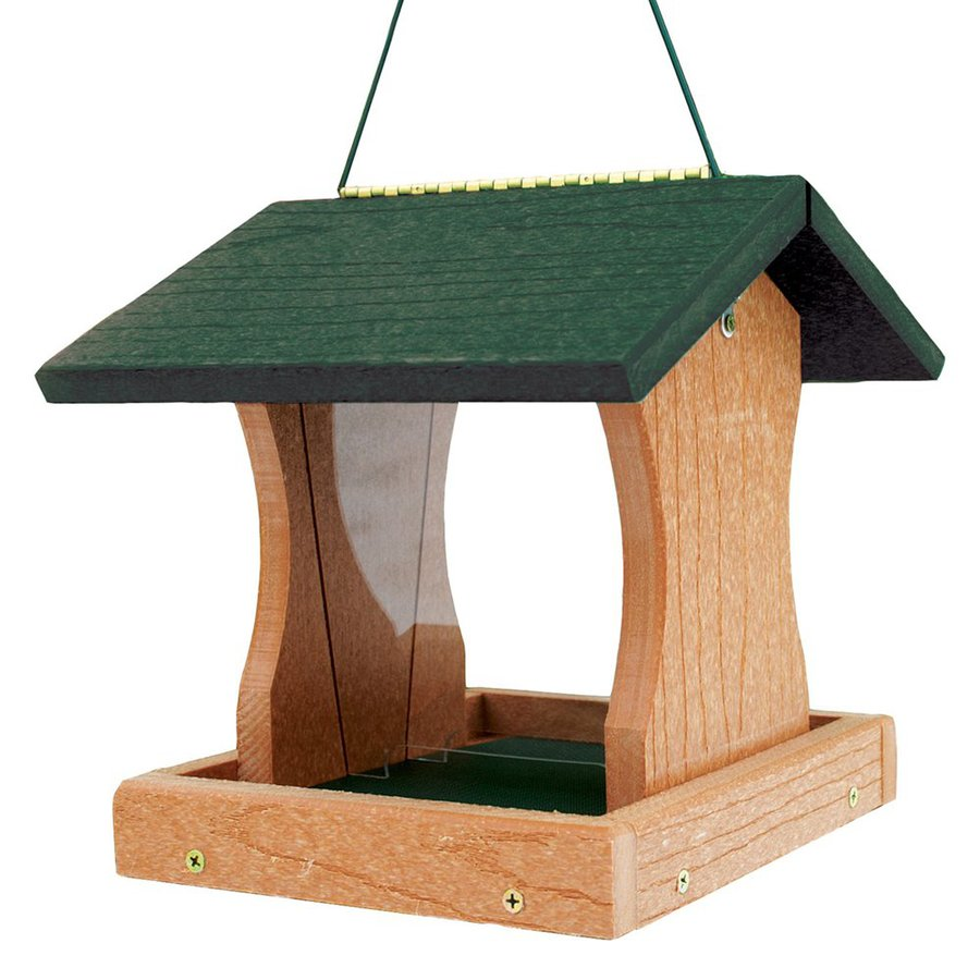WoodLink Going Green Recycled Plastic Hopper Bird Feeder