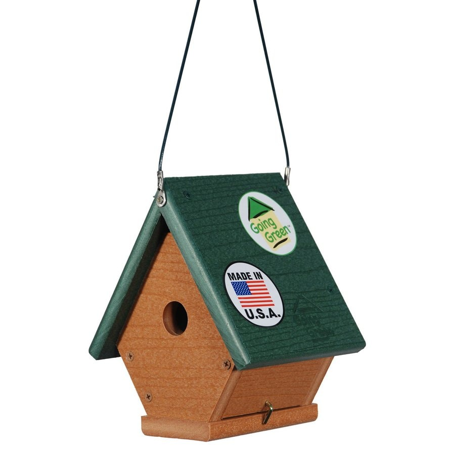 WoodLink 6.75-in W x 8-in H x 6-in D Brown Bird House