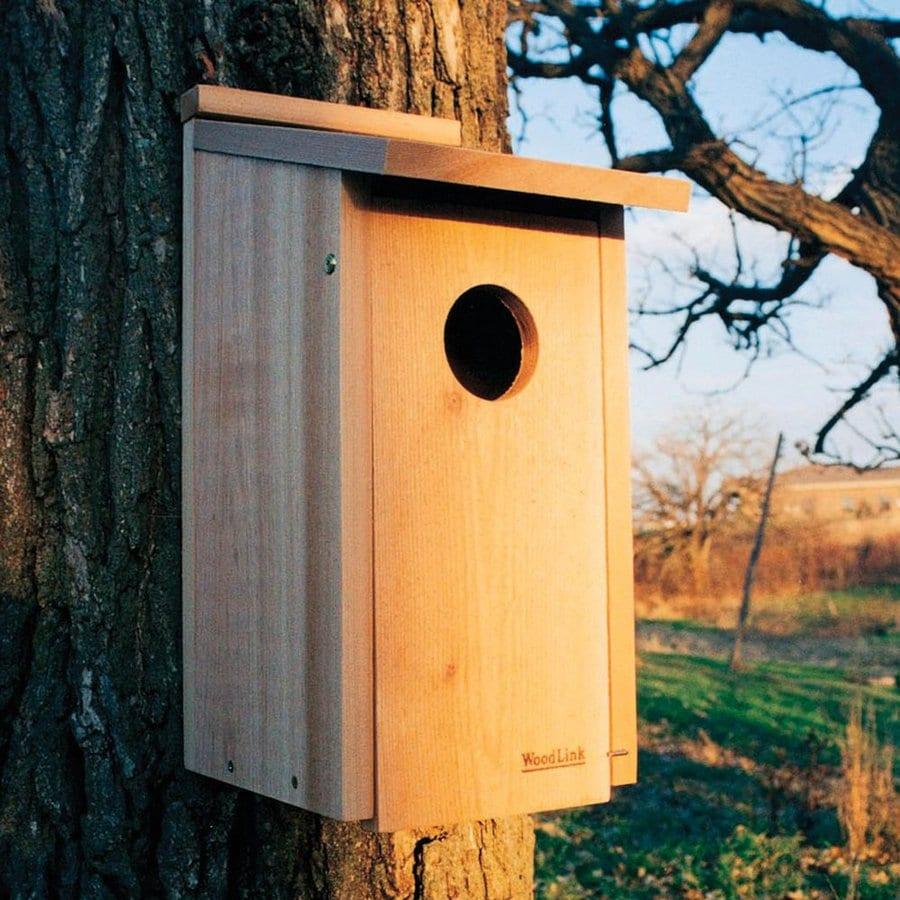 WoodLink 11-in W x 20-in H x 8.75-in D Natural Cedar Bird House