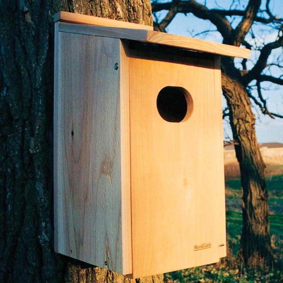 WoodLink 11-in W x 22.75-in H x 15.5-in D Natural Cedar Bird House