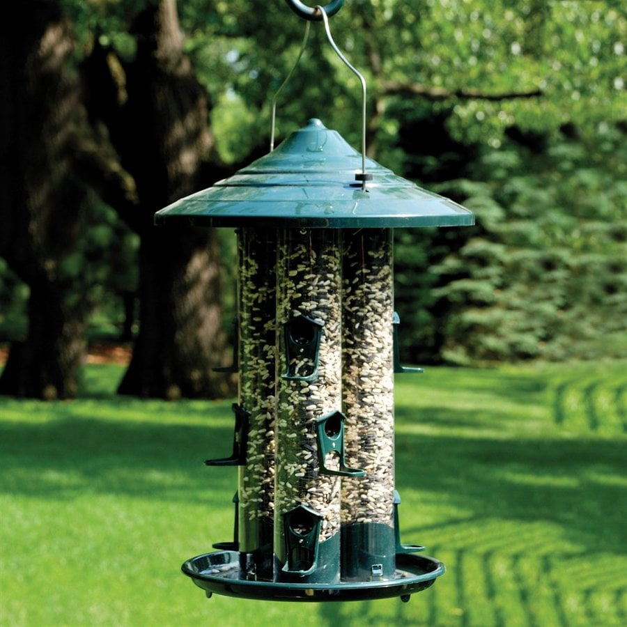 shop woodlink triple tube plastic tube bird feeder at