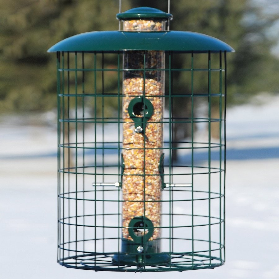 WoodLink Metal Squirrel-Resistant Tube Bird Feeder