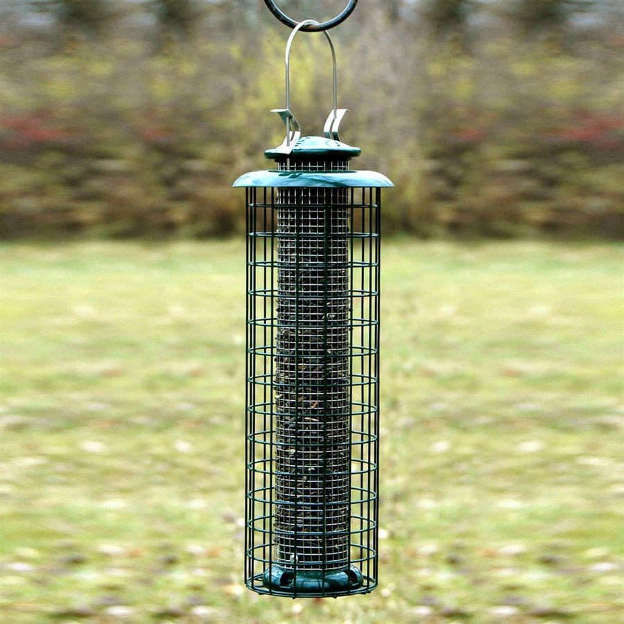 WoodLink Metal Squirrel-Resistant Tube Bird Feeder