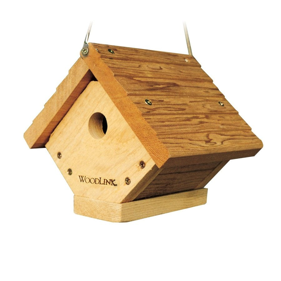WoodLink 8.25-in W x 7.5-in H x 7-in D Unfinished Cedar Bird House