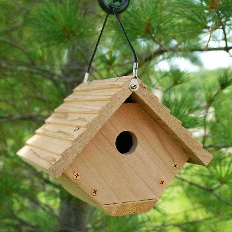 WoodLink 6-in W x 9-in H x 3-in D Unfinished Cedar Bird House