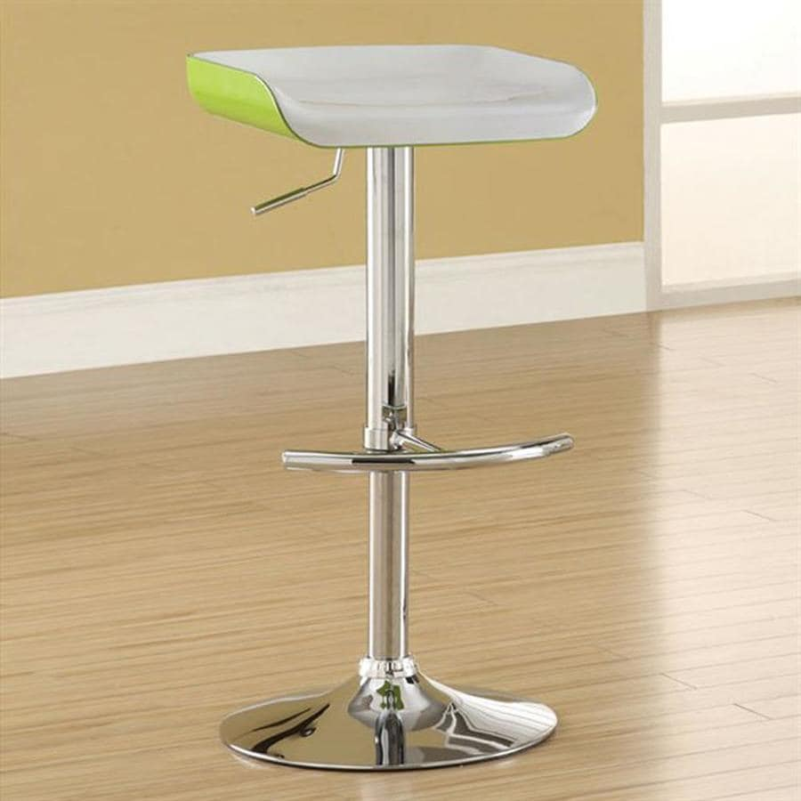Furniture of America Set of 2 Odeska Green/White 33.5-in Adjustable Stools