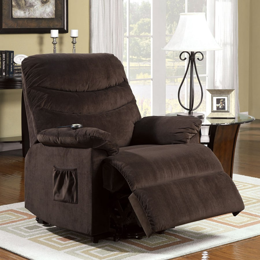 Furniture of America Perth Cocoa Brown Powered Recliner