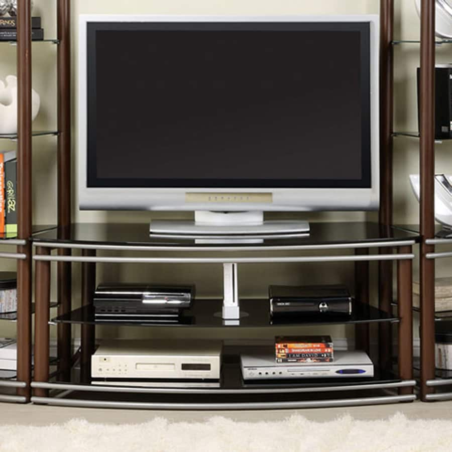 Furniture of America Silver Creek Brown/Silver TV Cabinet