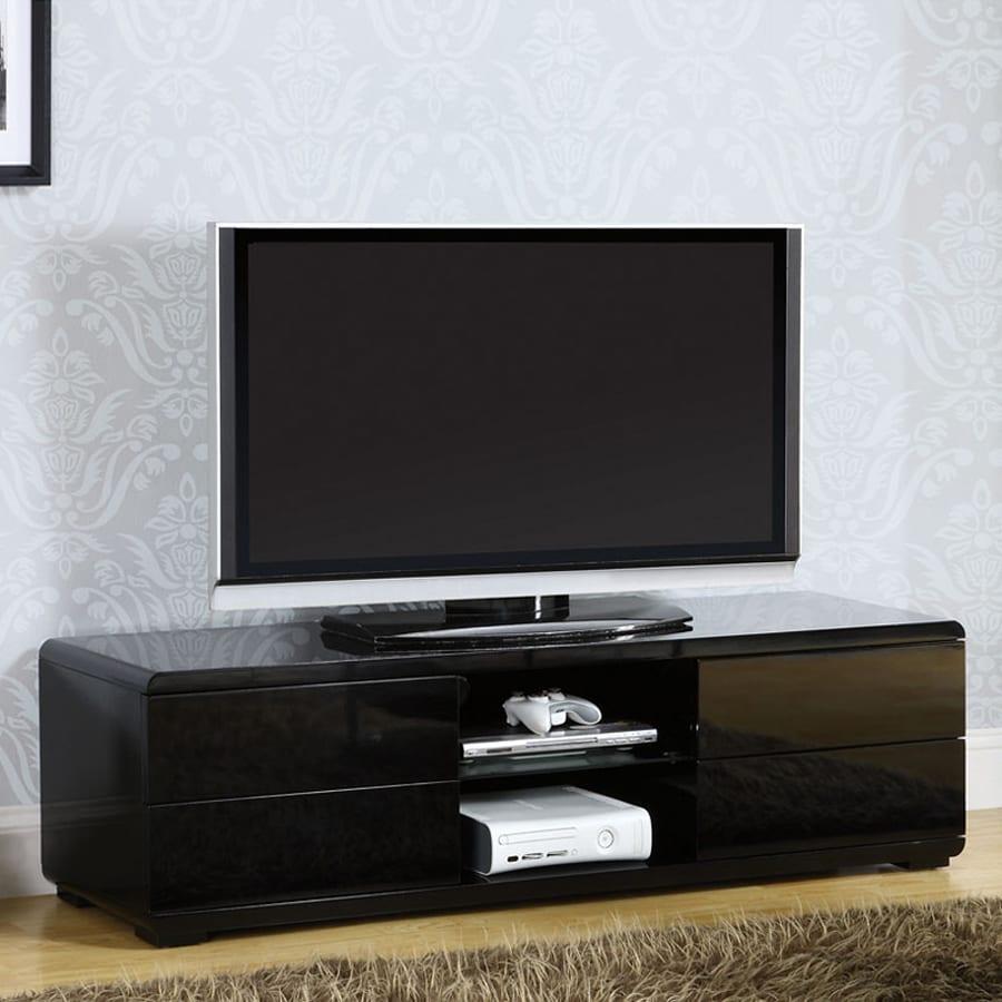 Furniture of America Cerro Black Rectangular TV Cabinet
