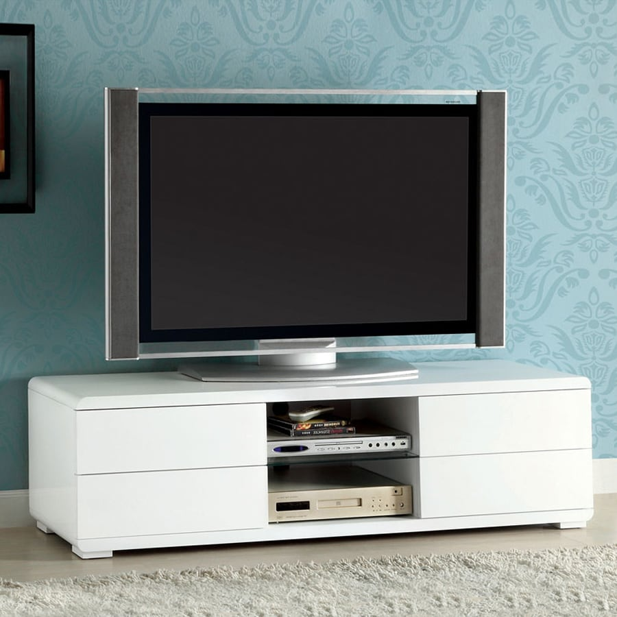 Shop Furniture of America Cerro White TV Cabinet at Lowes.com