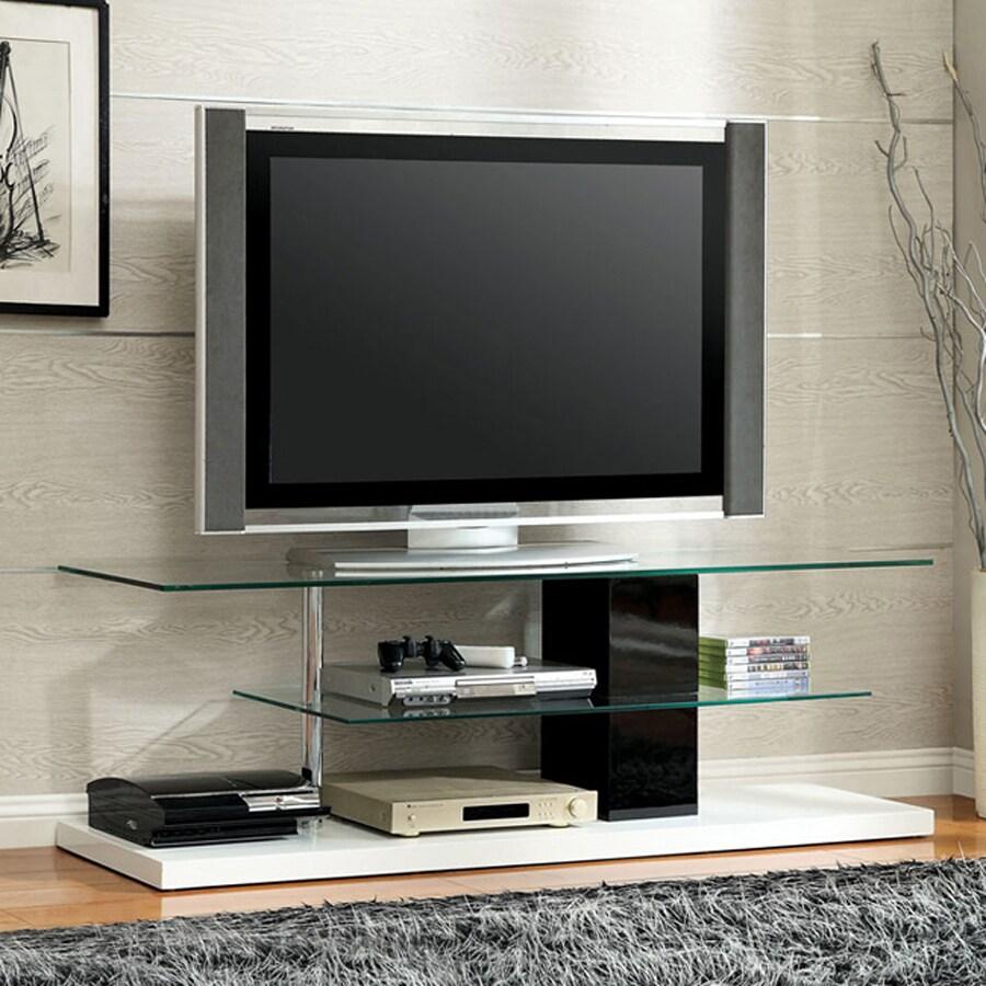 Furniture of America Neapoli White/Black TV Cabinet
