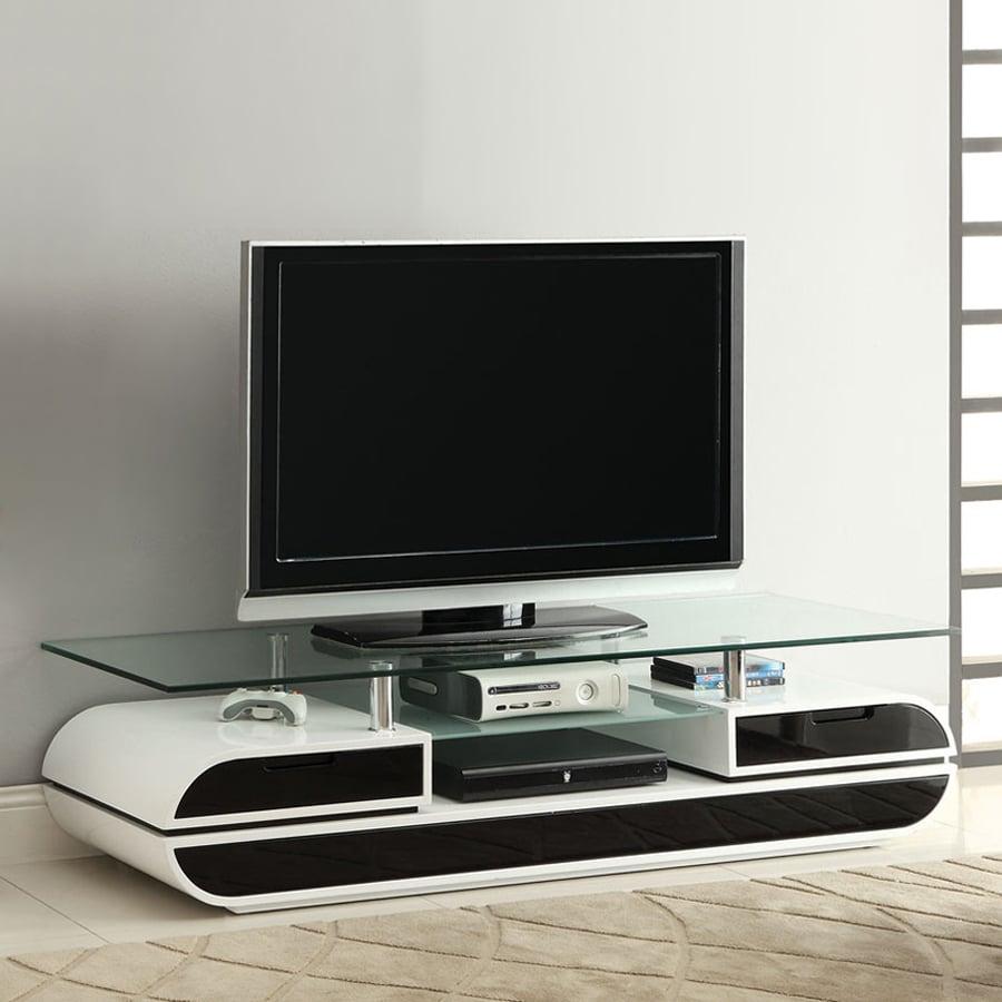 Furniture of America Evos White/Black TV Cabinet