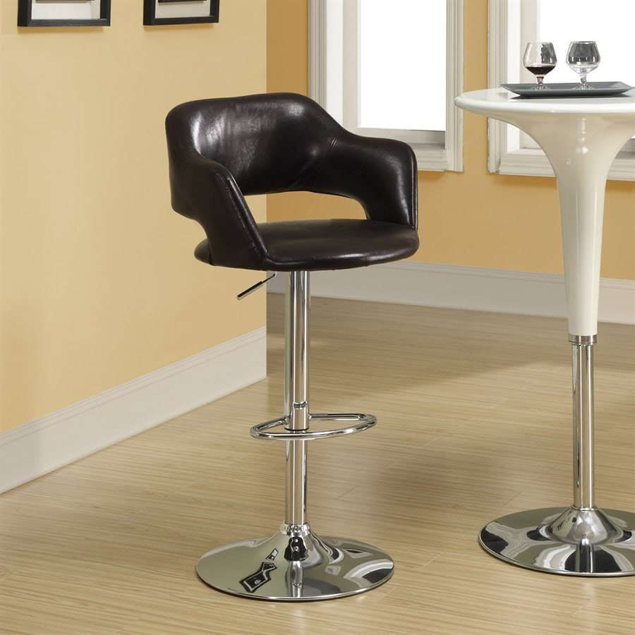 Monarch Specialties Dark Brown 31-in Adjustable Stool
