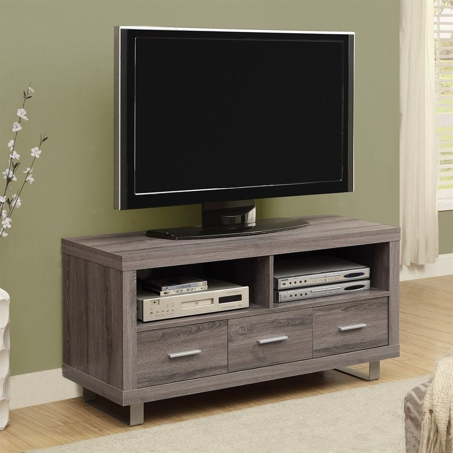 Monarch Specialties Dark Taupe TV Cabinet