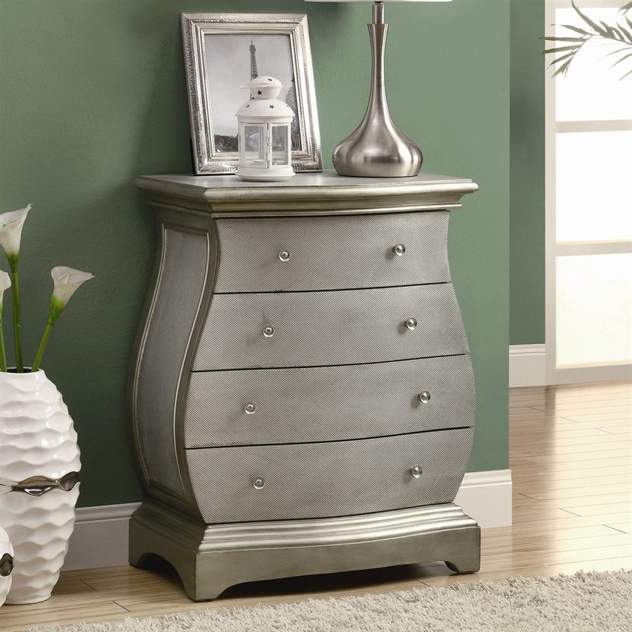 Monarch Specialties Light Brushed gold 4-Drawer Chest
