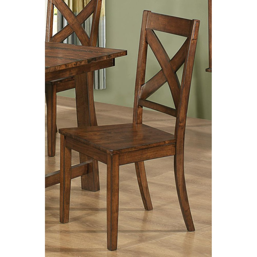 Coaster Fine Furniture Set of 2 Lawson Rustic Side Chairs