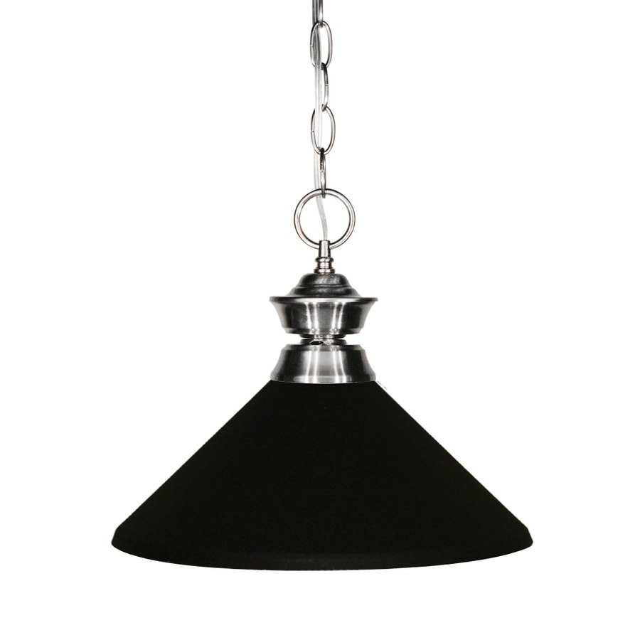 Z-Lite Sharp Shooter 14-in Brushed Nickel Industrial Single Cone Pendant