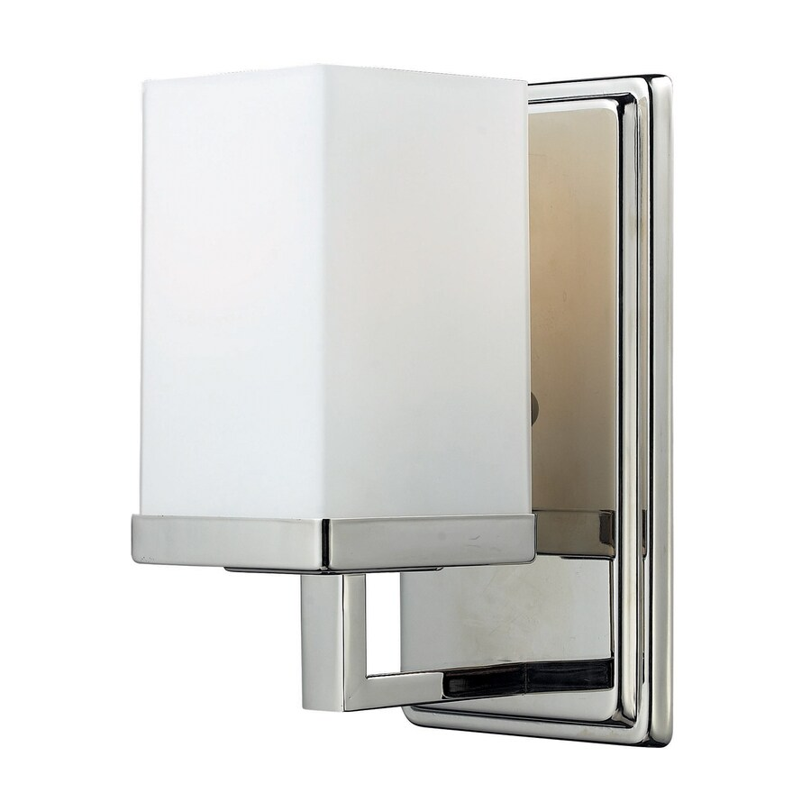 Z-Lite Tidal 4.5-in W 1-Light Chrome Arm Wall Sconce