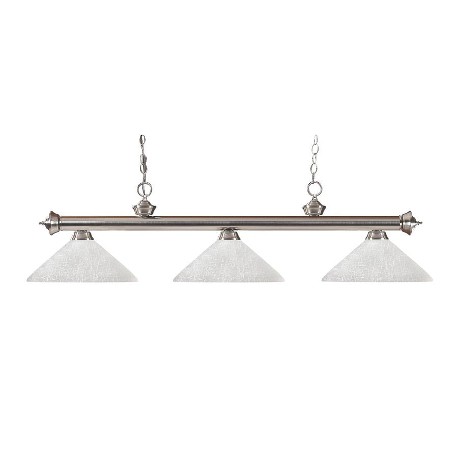 Z-Lite Riviera Brushed Nickel Pool Table Lighting