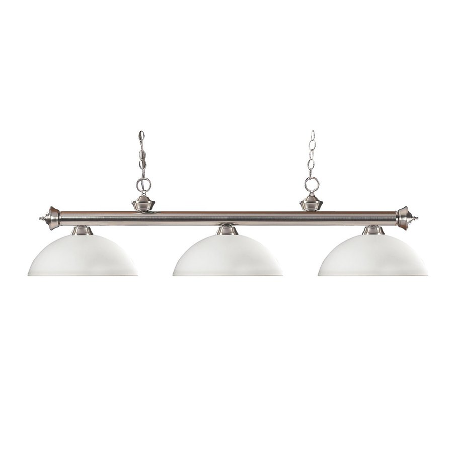 Z-Lite Riviera Brushed Nickel Pool Table Lighting At Lowes.com