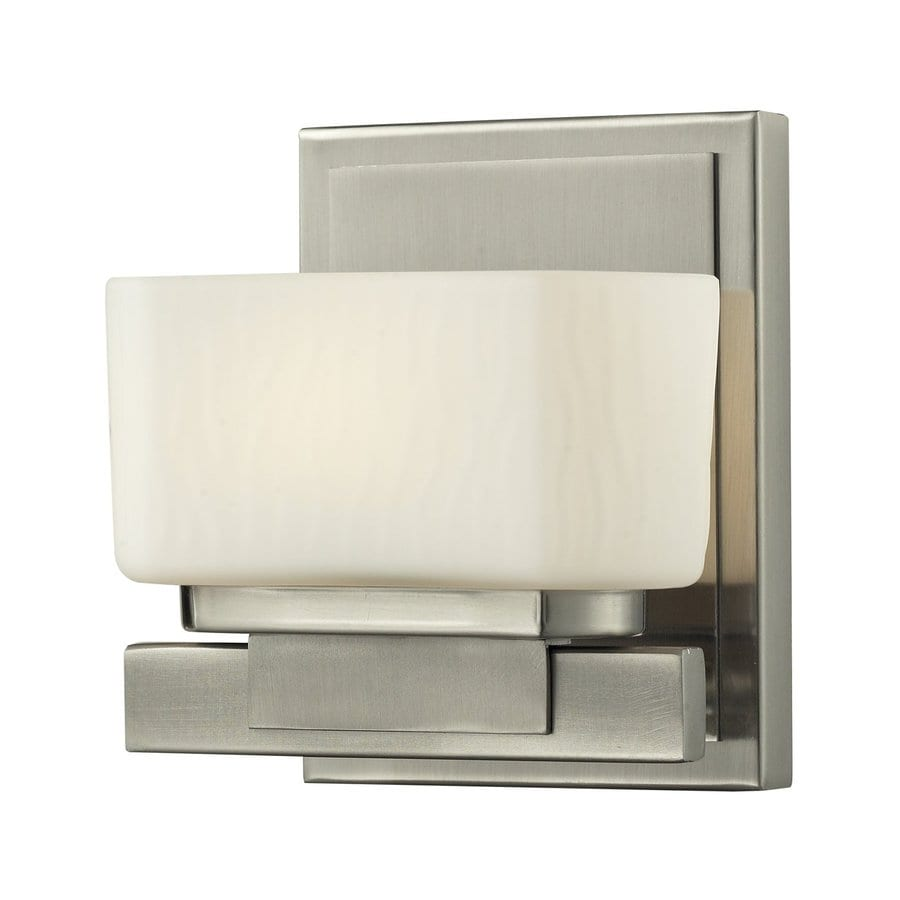 Z-Lite Gaia 1-Light Brushed Nickel Rectangle Vanity Light