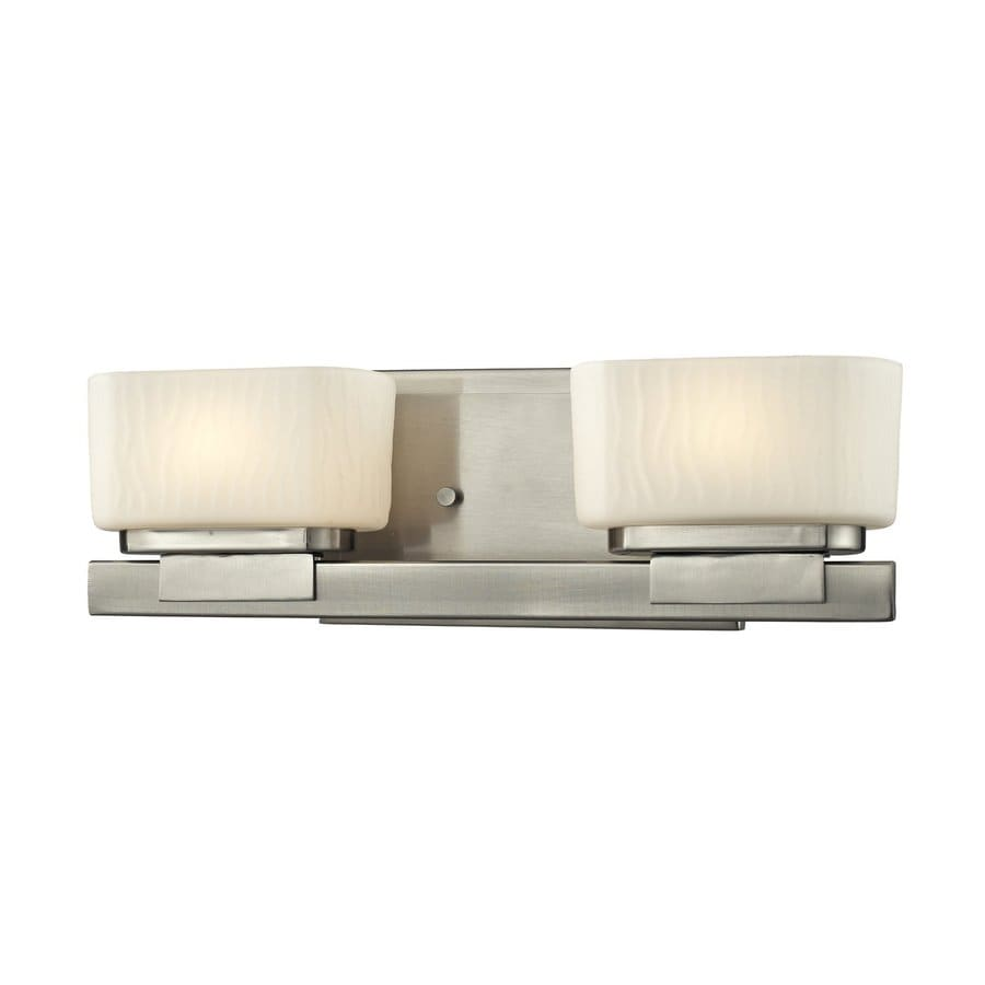 Z-Lite Gaia 2-Light Brushed Nickel Rectangle Vanity Light