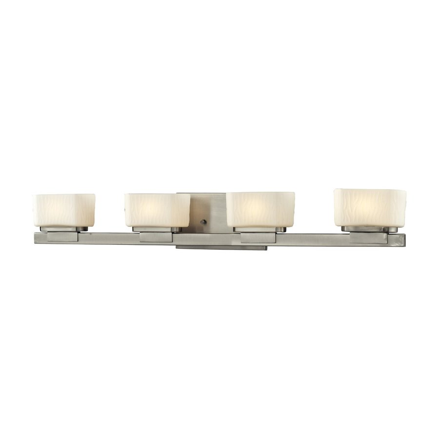 Z-Lite Gaia 4-Light 4.75-in Brushed nickel Rectangle Vanity Light
