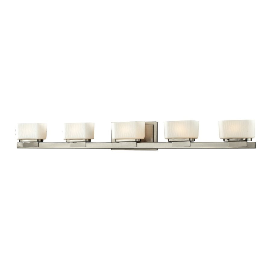 Z-Lite Gaia 5-Light Brushed Nickel Rectangle Vanity Light