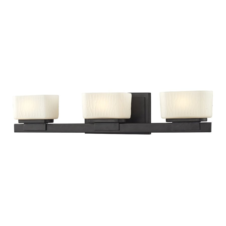 Z-Lite Gaia 3-Light Bronze Rectangle Vanity Light