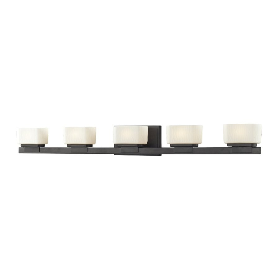 Z-Lite Gaia 5-Light Bronze Rectangle Vanity Light