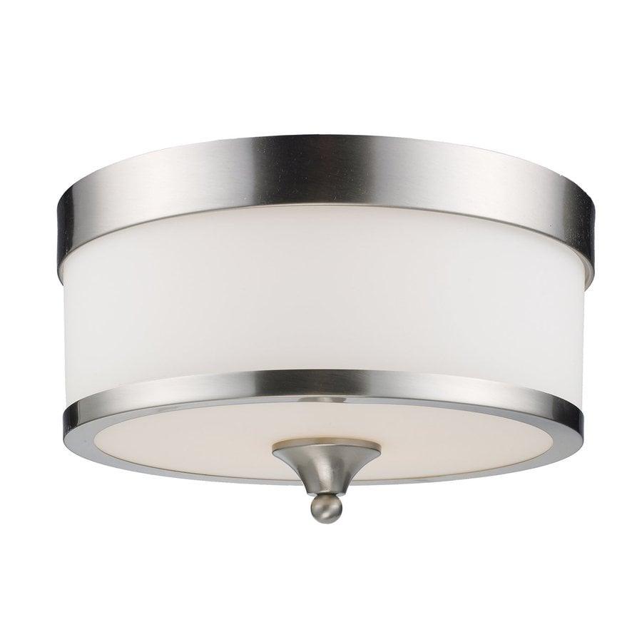 Z-Lite Cosmopolitan 13-in W Brushed Nickel Flush Mount Light