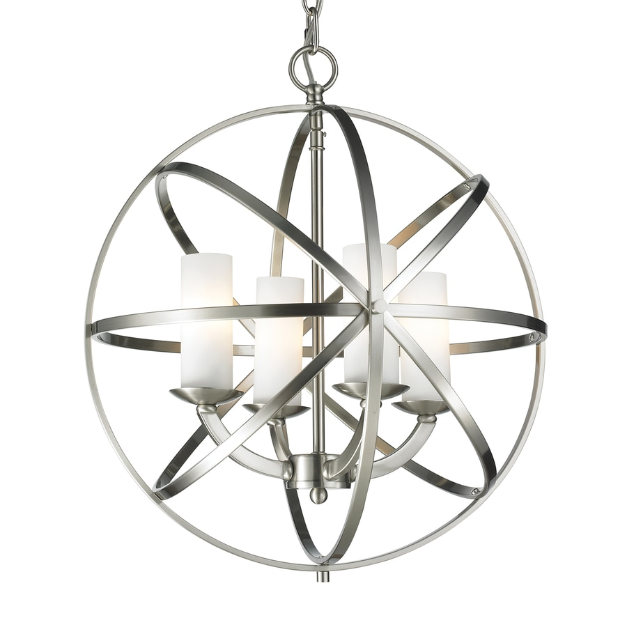 Z Lite Aranya 18 31 In 4 Light Brushed Nickel Cage Chandelier
