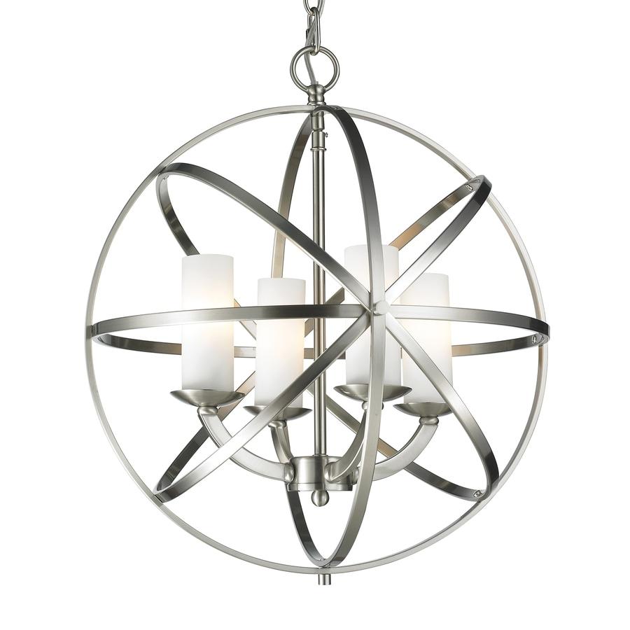 Z-Lite Aranya 18.31-in 4-Light Brushed Nickel Cage Chandelier