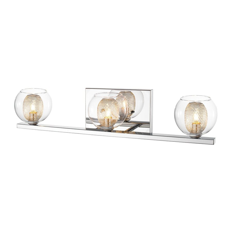 Z-Lite Auge 3-Light Chrome Bowl Vanity Light