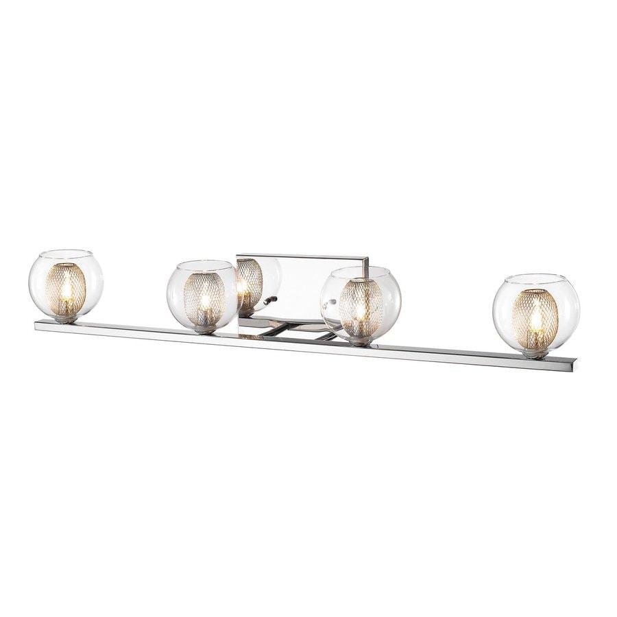 Z-Lite Auge 4-Light 4.92-in Chrome Bowl Vanity Light