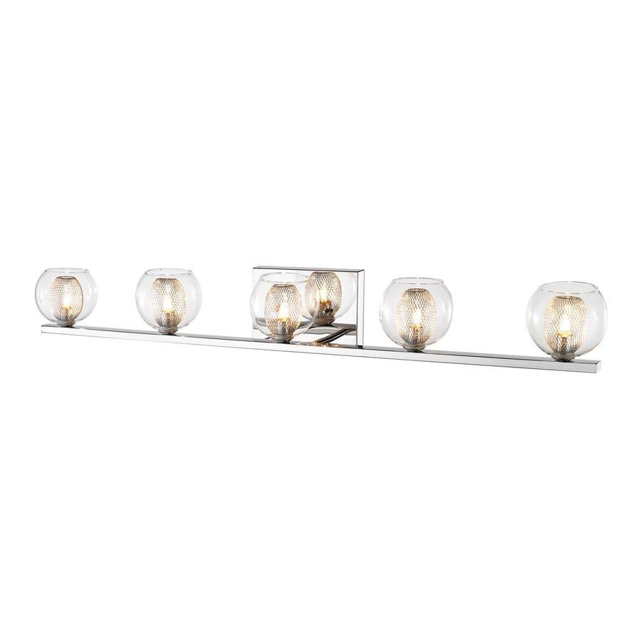 Z-Lite Auge 5-Light 4.92-in Chrome Bowl Vanity Light
