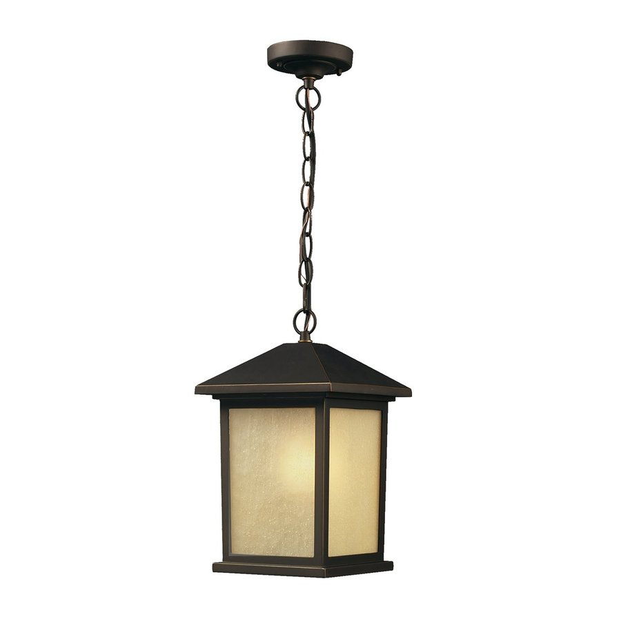 Z-Lite Holbrook 12-in H Oil Rubbed Bronze Outdoor Pendant Light