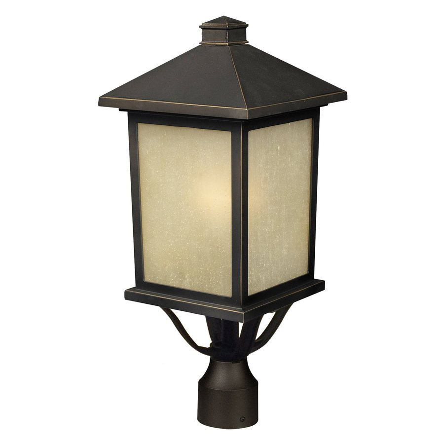 Z-Lite Holbrook 20-in H Oil Rubbed Bronze Post Light