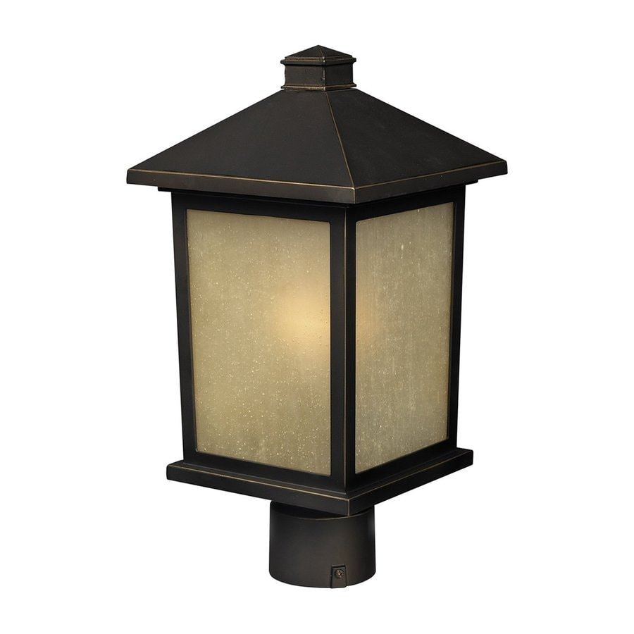 Z-Lite Holbrook 12-in H Oil Rubbed Bronze Post Light