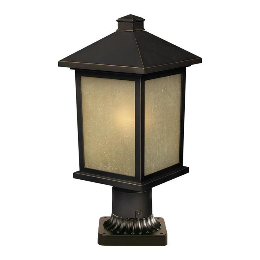 Z-Lite Holbrook 14-in H Oil Rubbed Bronze Pier-Mounted Light