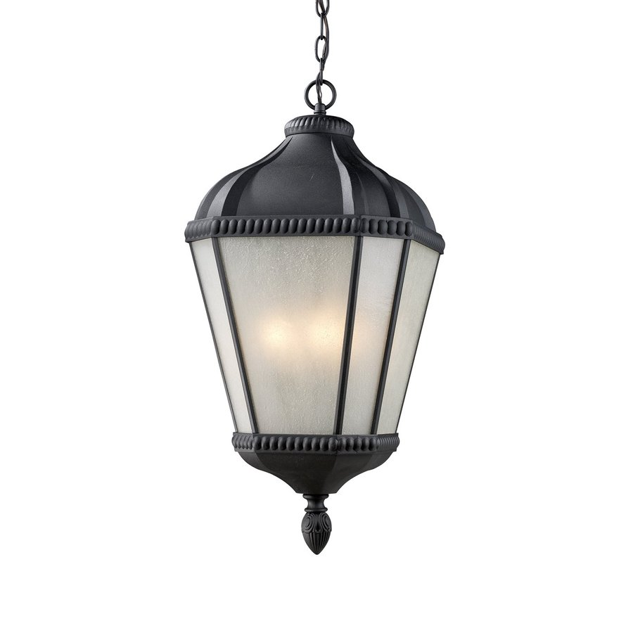 Z-Lite Waverly 23.25-in H Black Outdoor Pendant Light