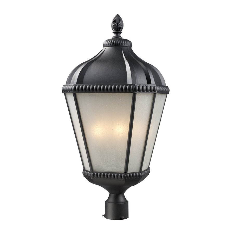 Z-Lite Waverly 27.75-in H Black Post Light