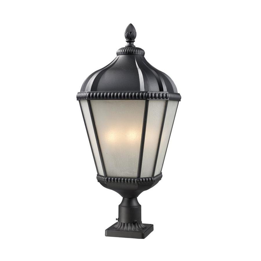 Z-Lite Waverly 29.75-in H Black Pier-Mounted Light