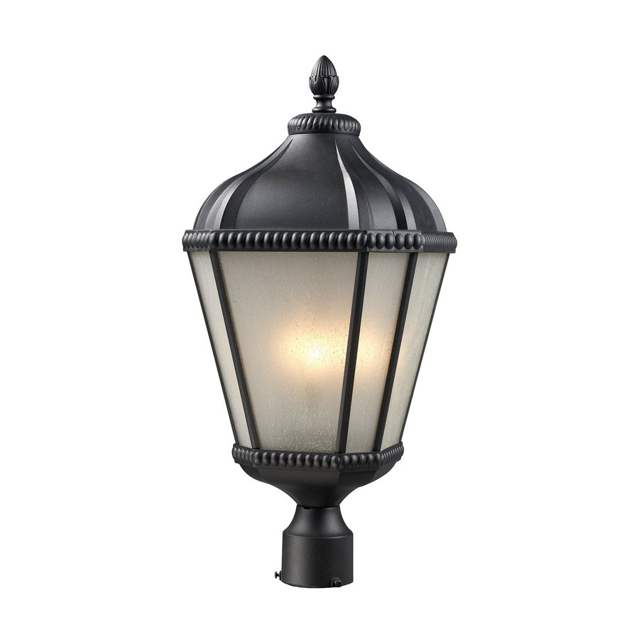 Z-Lite Waverly 25.25-in H Black Post Light
